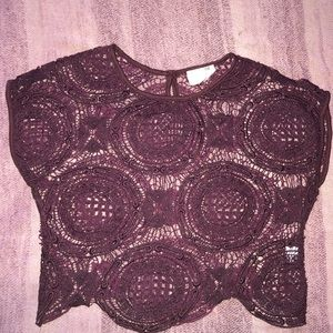 Purple lace style crop top
